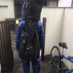 雨の日にベース用レインコートを着せて20分自転車に乗ってみた
