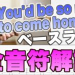 You`d be so nice to come home to のウォーキングベースラインを弾いてみた
