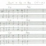 Gm7→C7→F△7のウォーキングベースライン3パターン